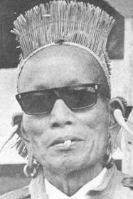 Man with ear piercings